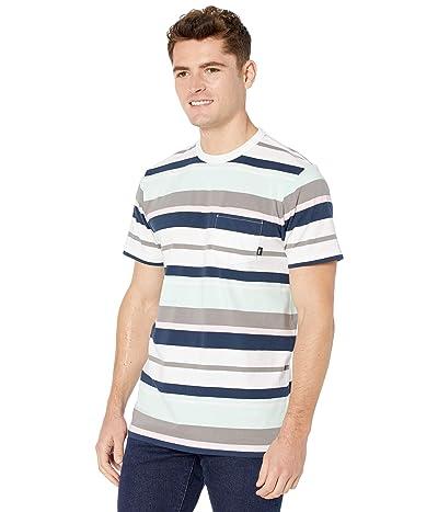 Vans Wyland Stripe Short Sleeve Knit Shirt (White/Bay) Men