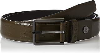 حزام بومبد سافيانو قابل للتعديل بعرض 3.5 سم للرجال من كالفن كلاين، اخضر، طول 105 سم