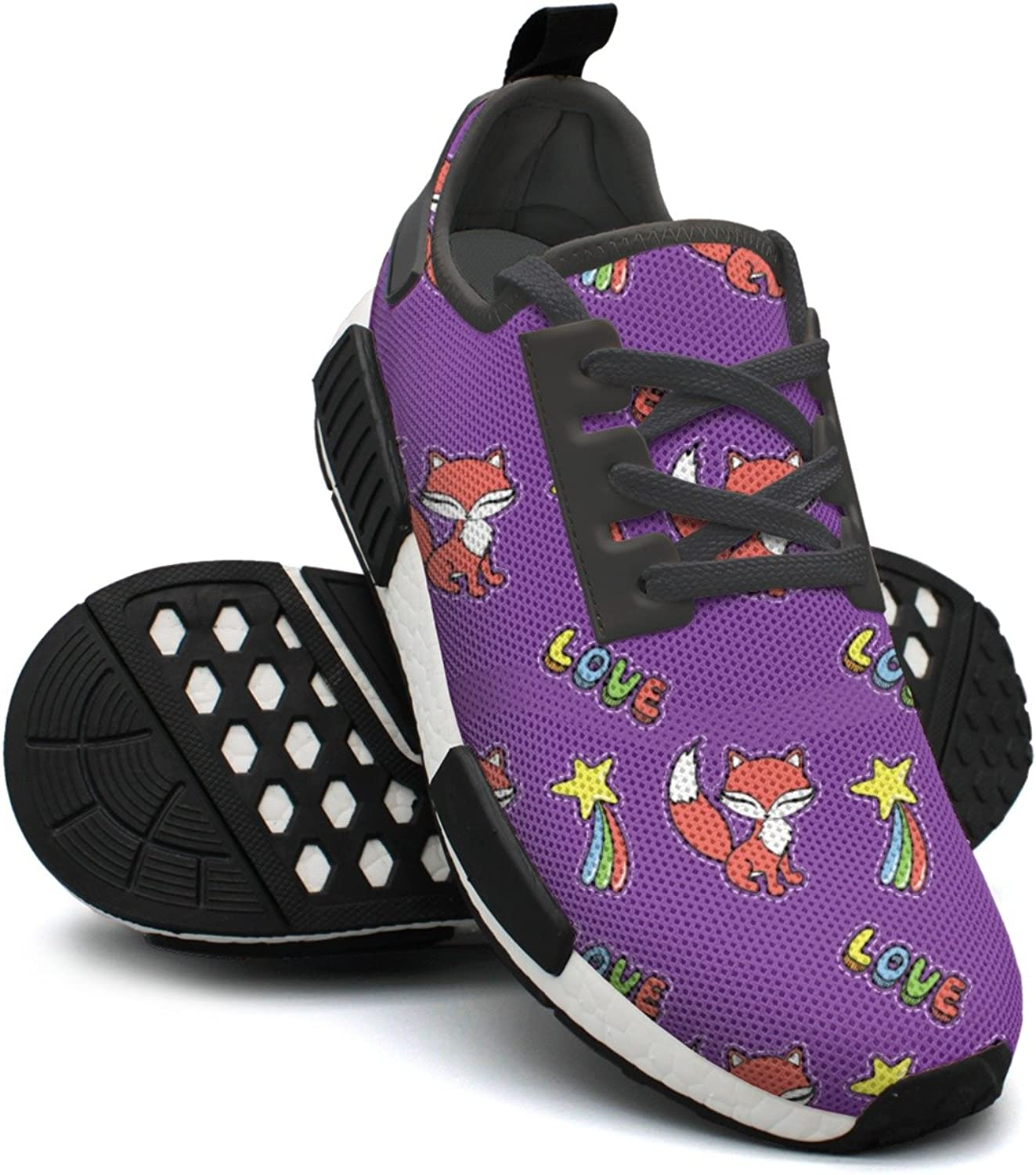 Kawaii Fox And Other Stickers Ladies Jogging shoes Nmd Workout Gym shoes
