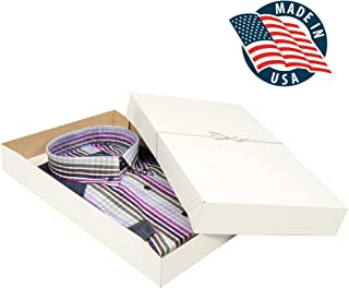 Shirt Gift Boxes for Clothes and Gifts. This 10 Pack of White Large Boxes with Lids Includes Tissue Paper and Silver Stretch Loops to Perfectly Wrap Your Gifts in Style.