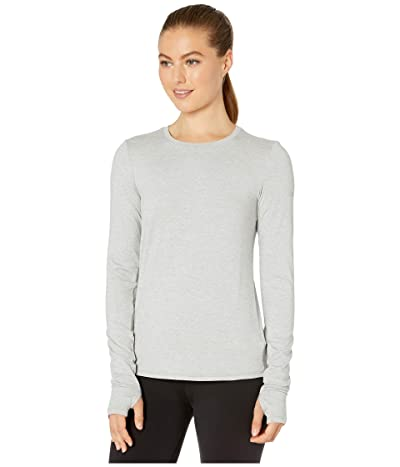 ALO Finesse Long Sleeve Top (Zinc Heather) Women
