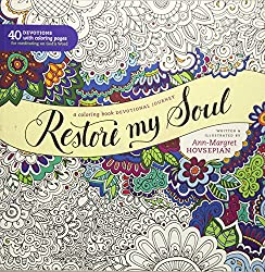 I like the idea of a creative outlet (especially for busy moms) that can be completed in increments easily and doesn't require a lot of materials. I put Restore My Soul in my Mom-time basket and have set aside (even) a few minutes each day to create in my own adult coloring book--and listen to some tunes--to help relieve a little stress, gain some focus, and spend some time reflecting on the bigger picture.
