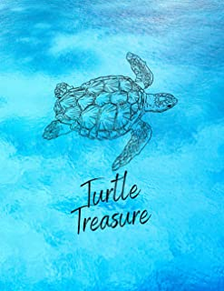 "Turtle Treasure: Cute Animal Sketchbook, 120 Blank White Pages, Handy Larger Size (8.5""x11""), High Quality matte cover. Id..."