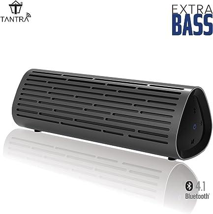 Tantra Thunder Bluetooth Portable Wireless Speaker with Rich Deep Bass, Waterproof IPX4 Shower Splash Proof, Premium Aluminum Shell (Metallic Grey)