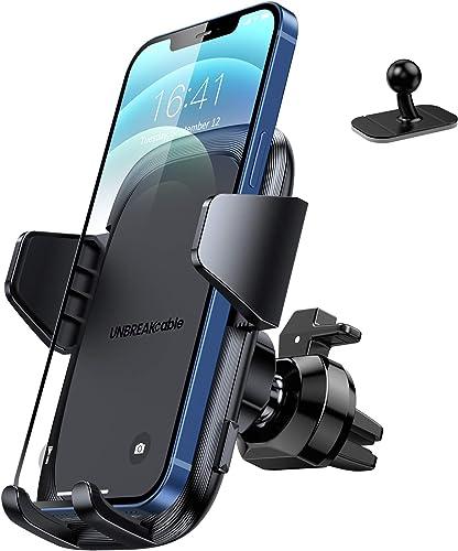 UNBREAKcable Support Telephone Voiture Grille d'aération [2 en 1] Universel Porte Telephone Voiture Tableau de Bord R...