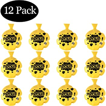 12 Pack of 3 inch Fun Novelty Prank Toy Sunflower Day Mini Whoopie Cushions