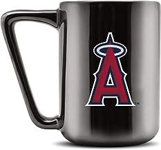 Duck House MLB LOS ANGELES ANGELS Ceramic Coffee Mug - Metallic Black, 16oz