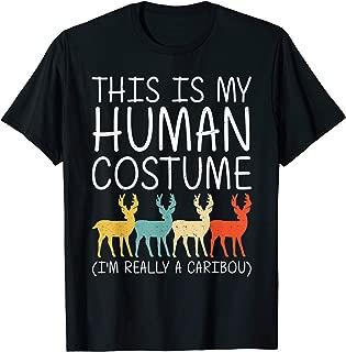 Caribou Halloween Human Costume Stag Doe Deer Easy DIY Gift T-Shirt