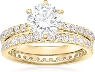 cheap real engagement ring sets