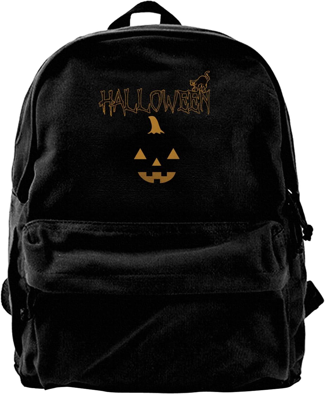 Halloween Max 60% OFF Pumpkin Canvas Backpacks Bags High-Capacity Sch Ranking TOP3 Laptop