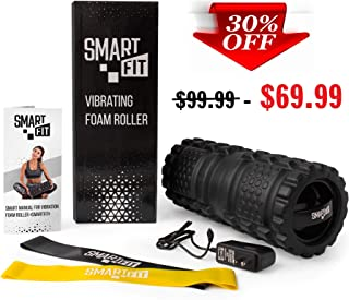 SmartFit_ Vibrating Foam Roller. 3-Speed Vibration Modes. Improved 3-D Surfaces. Effect of a Therapist's Massage. Electric Massage Roller Helps to Relax and Recovery Muscles.