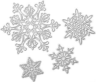 Scrapbooking dies de decoupe 4pcs Flocon de neige de Noël Cutting Dies pochoirs Matrices de découpe Bricolage Album papier...