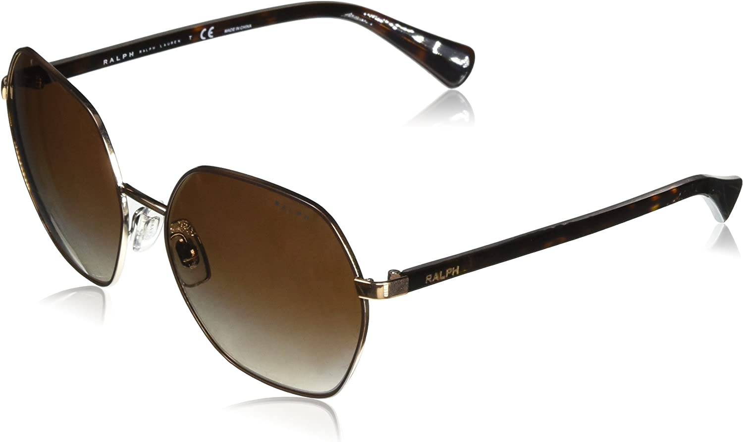 Ralph by Ralph Lauren Women's Metal Woman Sunglass NonPolarized Iridium Square