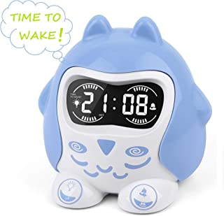 Mesqool Alarm Clock for Toddlers, 7-Colored Night Light with 9 Soothing Lullaby for