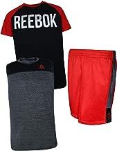 Reebok Boys' 3 Piece Athletic T-Shirt, Tank Top, and Short Set