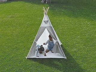 Little Adventures - Tienda Tipi infantil para niños, 100% algodón, Color Blanco. Producto de interior y exterior