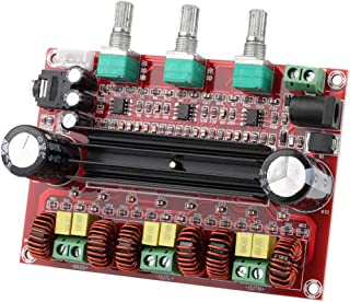 Clyxgs 2.1 Channel Class D Digital Power Audio Stereo AMP Module 2x80W+100W(Left,Right & Subwoofer) TPA3116D2 Amplifier Board,12-26V( Recommended 24V) 100 decibels