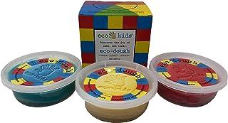 Eco-Dough for Kids: Pliable Reusable Smooth Safe Non-Toxic Dough, Set of 3 Colors