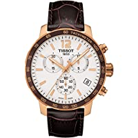 Deals on TISSOT Quickster Chronograph Rose Gold Tone Leather Mens Watch