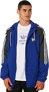 adidas Mens Originals Insley Jacket in Active Blue/DGH Solid Grey/White.