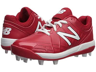 New Balance Kids 4040v5 Baseball (Little Kid/Big Kid) (Red/White) Kids Shoes