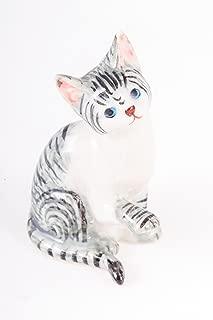 Cat Ceramic Figurine Handcraft Pet Mini Animal Decor Cute Gift Show Kitten Kitty