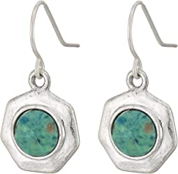 Geo Stone Drop Earrings