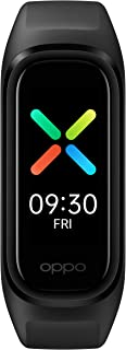 سوار تتبع اللياقة البدنية باند بشاشة أموليد من اوبو، بلوتوث اصدار 5.0، 1.1 بوصة - اسود