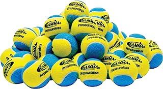 Gamma Sports Pressureless Practice Tennis Balls, Unisex-Adult, Pressureless Ball 60 Yw/Bl, CPB613 - Yellow/Blue, Yellow/Bl...
