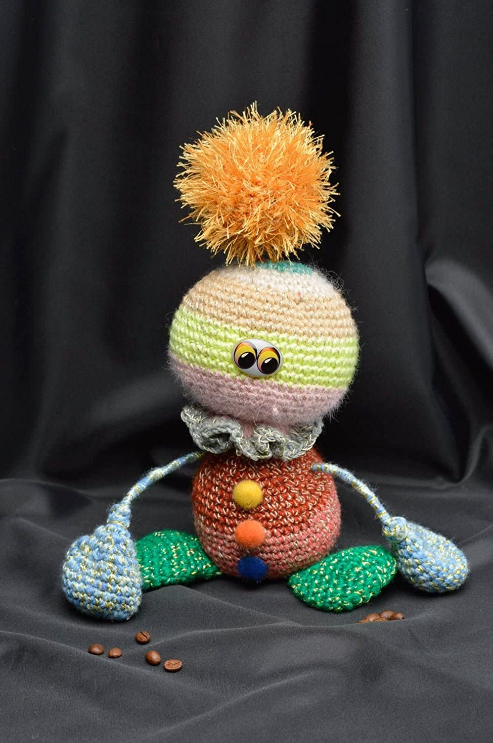Unusual Handmade Soft Toy Stylish Crocheted Souvenirs Unusual Present for Kids