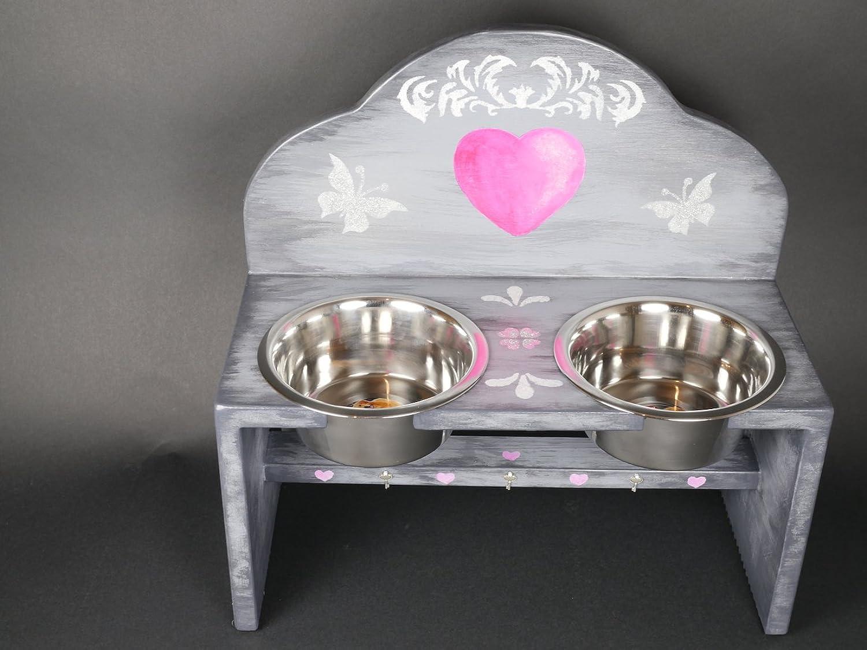 Open Heart Dog Feeding Station