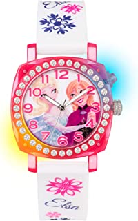 a3b9f3e84 Frozen Children's Quartz Watch with Multicolour Dial Analogue Display and  White Rubber Strap FZN3789