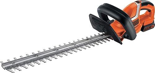 BLACK+DECKER Taille-Haies Sans Fil 18V, Taille-Haies Electrique 45 cm avec Batterie 2 Ah, Lame Asymétrique Double Act...