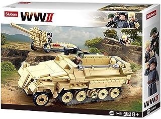 Sluban M38-B0695 WWII-SD.KFZ. 251 Half-Track K18 105MM Cannon, Multi Color