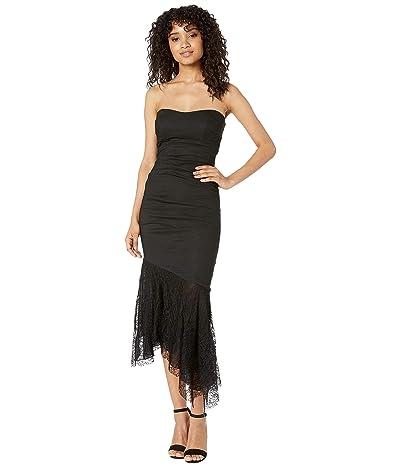 Nicole Miller Strapless Dress (Black) Women