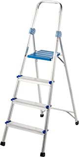 Winsir Aluminium Household Ladder, 4 Steps (Withstand up to 100Kg)