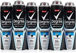 PACK OF 6 - Degree Men UltraClear Black + White Antiperspirant Deodorant Dry Spray, Fresh, 3.8 Oz