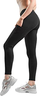 Womens Cotton Spandex Basic Full Length Classic Pockets...