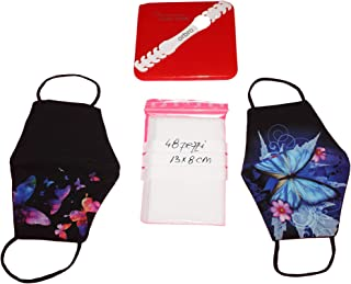 Protezioni facciali lavabili, avente tasca, con 48, filtri in TNT intercambiabili, Mitella, Italia HANDMADE, Scatola antib...