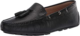 Driver Club USA Women's Leather Made in Brazil Tassle Driving Loafer, Black grainy, 5 M US
