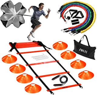 Agility Ladder Speed Training Equipment-20 Feet Ladder,8...