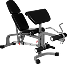 XMark Flat Incline Decline Weight Benches, Options Include Adjustable Benches with Preacher Curl and Leg Extension or Adjustable Bench with Preacher Curl Only, Decline to Full Military Press Position
