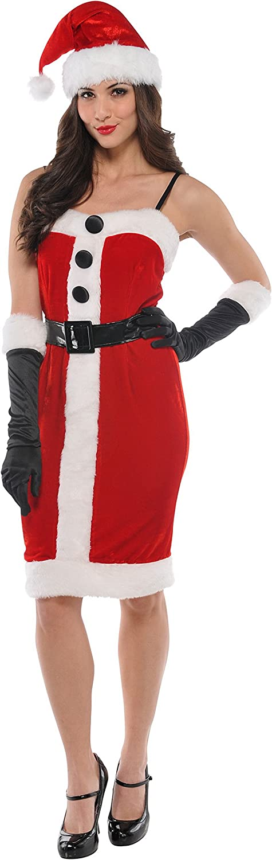 Fancy Ole - Damen Frauen Weihnachtsfraukostüm mit Gürtel und Knöpfen, Rot, Größe M B074PSWCPY Lassen Sie unsere Produkte in die Welt gehen     | Schön und charmant