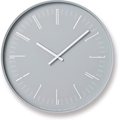 レムノス 掛け時計 ドローウォールクロック アナログ 灰 Draw wall clock KK18-13 GY Lemnos