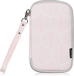 Skycase Passport Holder Organizer Travel Wallet with Credit Card Holder, Pink