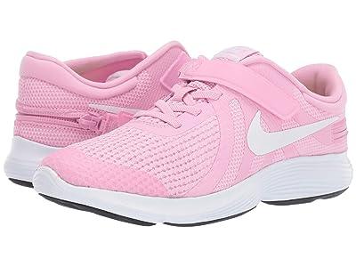 Nike Kids FlyEase Revolution 4 (Big Kid) (Pink Rise/White/Pink Foam) Girls Shoes