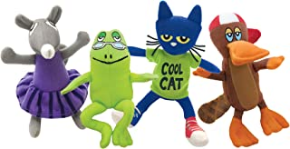 MerryMakers Pete the Cat and Friends Playset, Set of 4, 5 - 6.5-Inches Each
