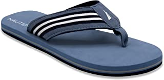 Nautica Men's Footrope Flip Flop, Beach Sandal, Boat Slide 12(M) Tide Blue