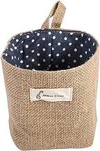 Cotton Linen Hamper Hanging Clothes Bag Home Gadget Storage Organizer Foldable Basket Bin (#5)