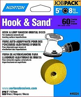 Norton 49224 Hook and Loop Sanding Disc, 5 in, 60 Grit